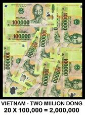 Vietnam 2 MILLION (2,000,000) Dong (20 x 100,000) Circulated CANADIAN Seller !