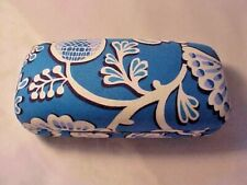Vera Bradley Hard Shell Eye Glass Case Blue Lagoon Hinged Closure Floral Print