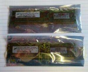 New Micron MT9HTF6472Y-40EB2 1GB (2x512MB) PC2-3200 DDR2-400MHz ECC CL3 240P RAM