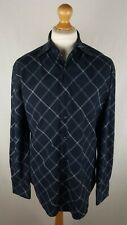 Mens Ben Sherman Long Sleeve Shirt (S3546CF) Size Large Slim Fit Blue Check