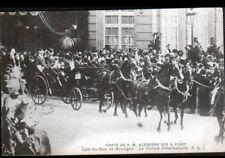 PARIS Cérémonie / ROI d'ESPAGNE ALPHONSE XIII à la GARE du BOIS de BOULOGNE 1905