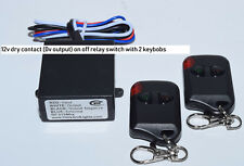 12V 30A dry contact 0Vout on-off relay switch with 2 remote keyfob RX101-2