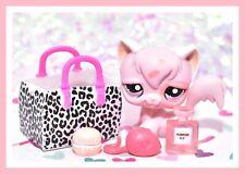 ��Authentic Littlest Pet Shop Lps #1726 Angora Longhair Kitty Cat Pink Spots��