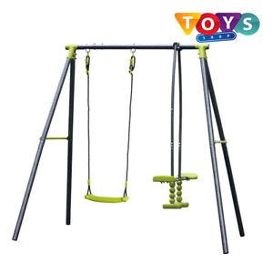 New 2 Unit Swing Seesaw Set Outdoor Garden Kids Children Playground Brand UK