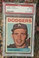 1964 Topps #200 Sandy Koufax PSA 4 HOF Dodgers