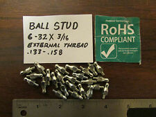 Fastener Service Corp. Ball Studs 6-32 X 3/16 External Thread 25 Pieces New