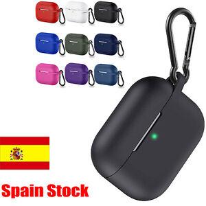 Silicona Gel Funda Carcasa Cargador Case Cover para AirPods Pro Auriculares #ES