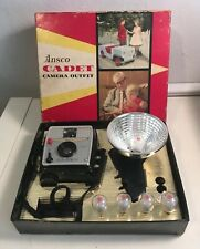 Vintage Ansco Cadet Camera Outfit in original box Photography