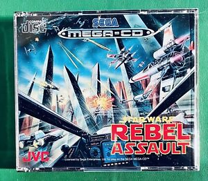 STAR WARS REBEL ASSAULT Sega Mega CD PAL Euro COMPLET en Excellent État