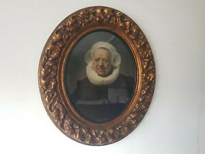 Rembrandt Print 83 Year Old Woman Paper Mache Frame