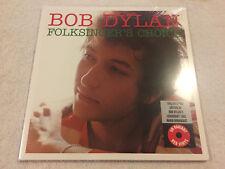 """BOB DYLAN:""""1962 RADIO SHOW FOLKSINGER'S CHOICE:NEW UK LP 180g RED VINYL GATEFOLD"""