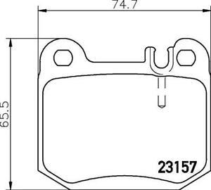 Hella Pagid Rear Brake Pads T1188 fits Mercedes M-CLASS W163 ML 320 ML 430