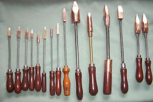 15 Vintage Copper Head Soldering Irons Metal Worker Blacksmith