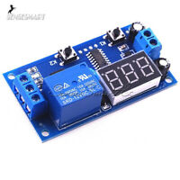 12V Digital LED Cycle Timer Delay Switch Turn Off/On Time Relay 2 Button Module
