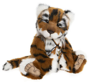 Minikin by Charlie Bears - jointed plush collectable tiger - CB202063