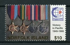 More details for norfolk island 1995 mnh wwii ww2 vj victory pacific day 1v set war medals stamps