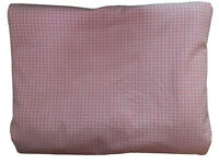 POTTERY BARN KIDS PINK MINI GINGHAM CHECK DUVET COVER ~ Twin