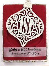 Swarovski® Crystal Keepsake Christmas Tree Decoration Baby's First Christmas
