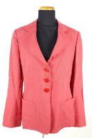 Armani Collezioni Leinen-Blazer Damen Gr. IT 44 (DE 38-40) Rot Leichte Jacke