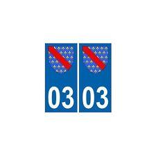 03 Allier autocollant plaque blason armoiries stickers droits