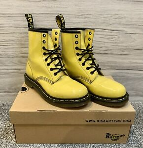 Dr. Martens Yellow Patent Leather 1460 UK 6 EU 39 US 8 L US 7 M