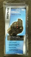 NEW Hopkins 47345 Wiring Adapter 7 Blade to 4 Flat w/ LED Test Lights,Dust cover
