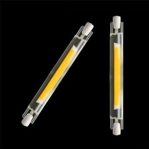 Super Bright Dimmable Led R7s Glass Tube Cob Bulb Ceramics 78mm 118mm R7s Corn L