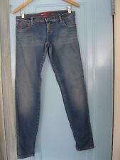 MISS SIXTY Stonewashed Medium Wash Jeans with Ankle Zippers, Size 27 x 31