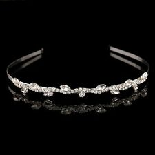 Silver Plated Rhinestone Leaves Hairband Crystal Girls Hair Accessories(CH25-47)