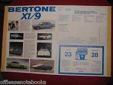 Bertone X1/9 X 1-9 Dealer Window Sales Tag 1986 Poster Original Fiat X1-9 new