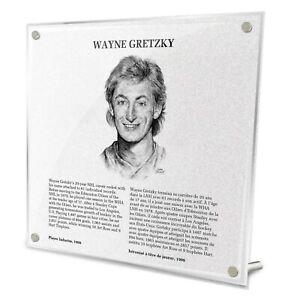 Wayne Gretzky Edmonton Oilers HHOF Legends Fire-Polished Acrylic Plaque