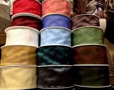 """Moire Rayon Ribbon 2"""" Woven Edge Pleating 1yd Made in Germany"""