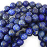 "Natural Blue Lapis Lazuli Round Beads 15""  3mm 4mm 5mm 6mm 8mm 10mm 12mm 16mm"