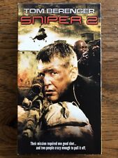 Sniper 2 VHS Action Tom Berenger Bokeem Woodbine Columbia Tristar