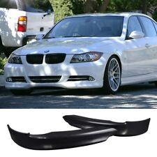 FOR BMW E90 05-08 4D PU FRONT BUMPER LIP SPOILER SPLITTERS PAIR BODY KIT