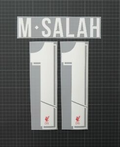 M.SALAH #11 2018-2022 Player Size European & Cup White Nameset Liverpool