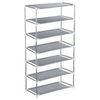 7 Tiers Shoe Rack Shoes Shelf Organizer Stand Storage Easy Assemble Space Saving