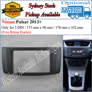 Fascia facia Fits Nissan Pulsar 2013+ Double Two 2 DIN Dash Kit
