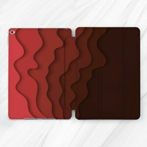 Gradual Red Abstract Waves Case For iPad 10.2 Air 3 Pro 9.7 10.5 11 12.9 Mini