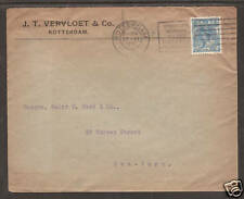 Netherlands Sc 68 perfin J.T.V. reversed on cover   4;9