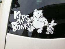 KIDS ON BOARD VINYL DECAL STICKER CAR WINDOW WINNIE THE POOH PIGLET FAMILY BABY