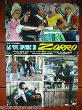 Le Tre Spade di Zorro {Guy Stocwell} Italian Movie Lobby Card 1960s