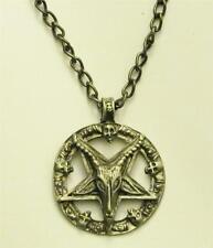 Baphomet Necklace & Chain Satanic Pendant Pentagram Pentacle LaVey Sigil Star