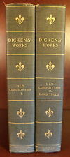Charles Dickens Old Curiosity Shop Hard Times 1899 Limited Edition 2 Vol Set