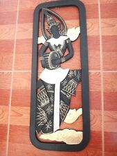 19''ART INSTRUMENT WOOD CARVED PANEL WALL HANGING SCULPTURE HOME DECOR HANDMADE