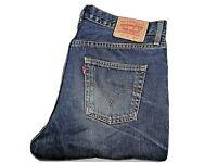 "LEVIS 751 Mens Jeans Blue Denim Straight Leg SIZE W34 L34 Waist 34"" Leg 34"""