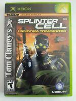 Tom Clancy's Splinter Cell: Pandora Tomorrow (Original Xbox, 2004) FREE SHIPPING