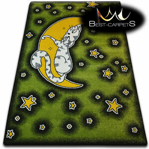 Soft Carpets Bedroom Boys Girls Thick Children Rug 'KIDS' CAT FUN Rugs LARGE