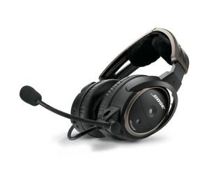 Bose A20 Aviation Headset with Bluetooth - Straight Chord - Twin Plug (Dual GA)