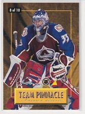 96/97 PINNACLE PATRICK ROY / JOHN VANBIESBROUCK TEAM PINNACLE #8